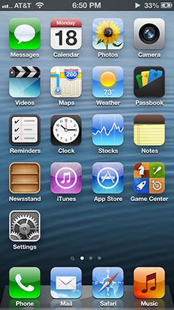 iOS6までのスキュアモーフィズムデザイン