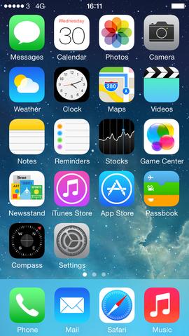 iOS7以降のフラットデザイン