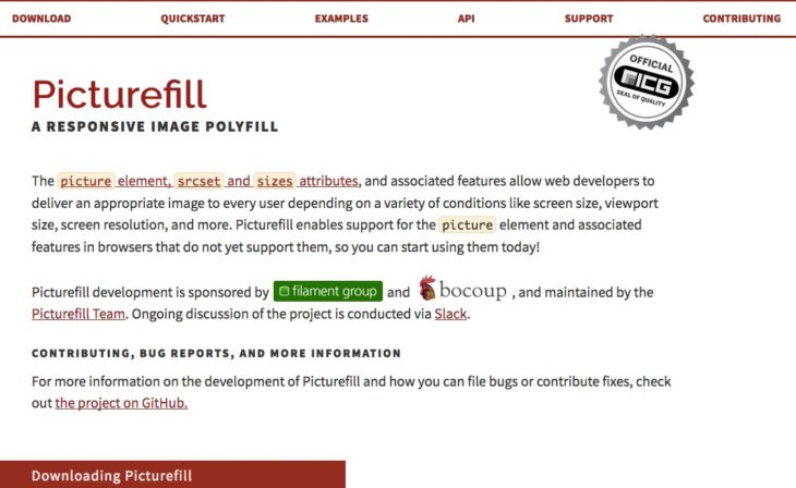 picturefill サイト