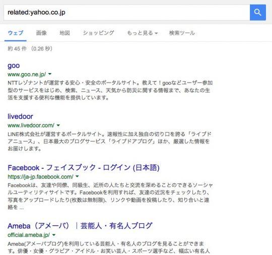 Google類似検索